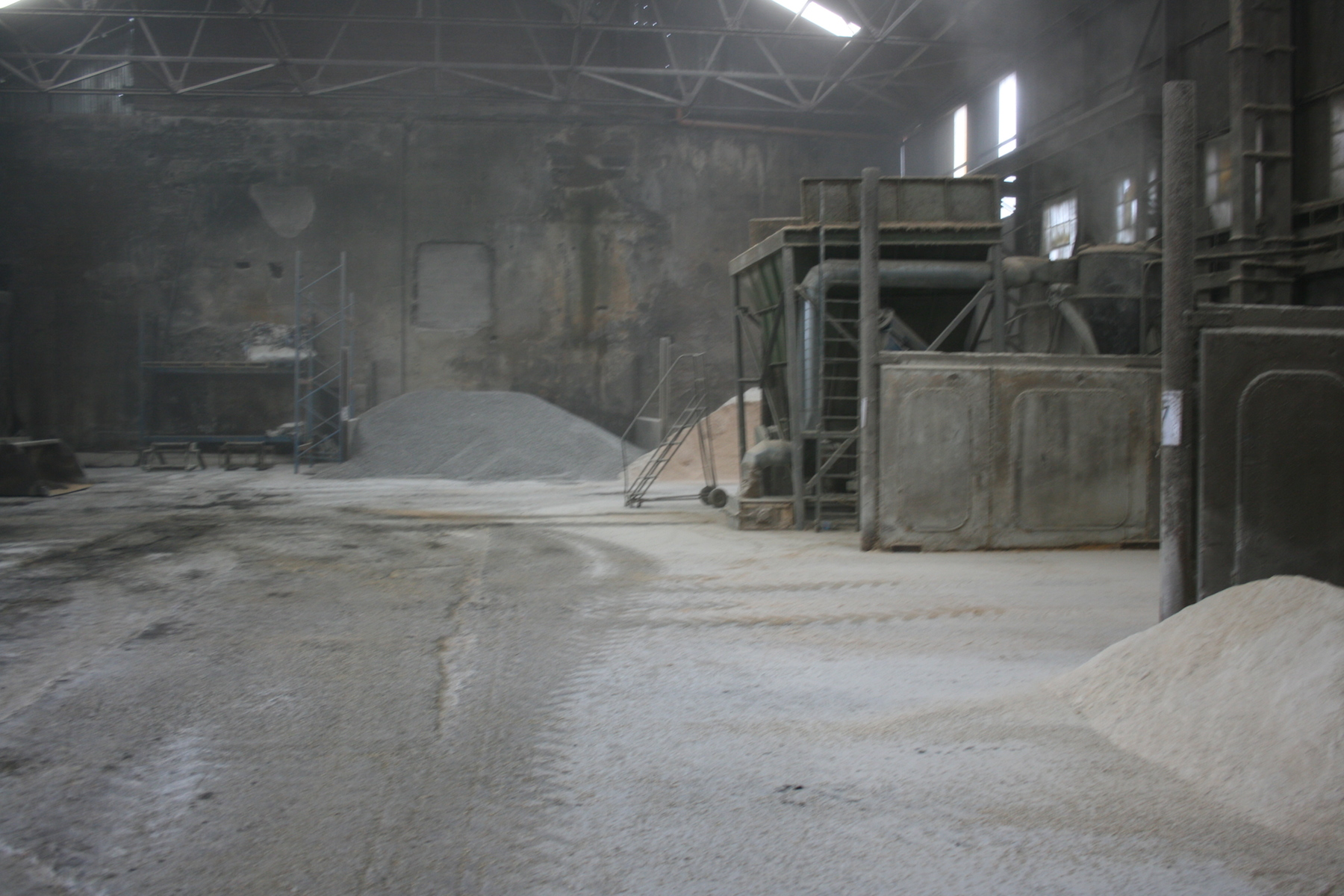 Oat pellet production area